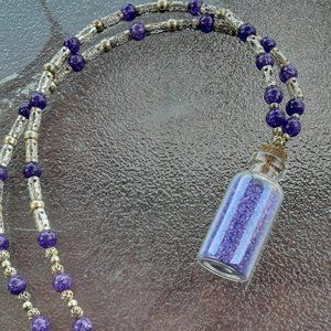 Purple Sand Necklace Handmade